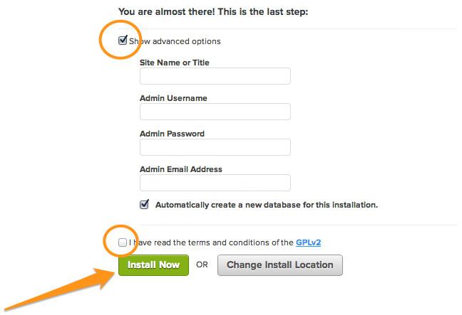 Enter your WordPress user details